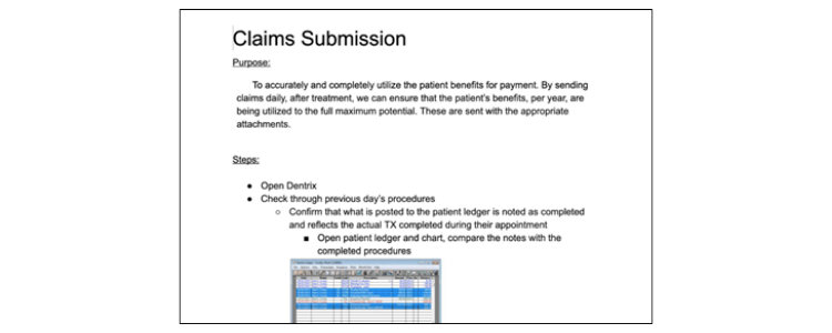 """Example of a """"How to"""" Submit a Claim"""