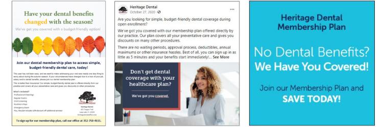Heritage Dental's Marketing Efforts