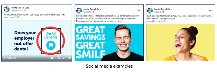 Krantz Dental Care's Social Media Examples
